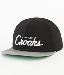 Crooks & Castles-Team Crooks Snapback Czarny/Szary