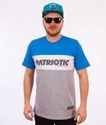 Patriotic-Box T-shirt Szary/Niebieski/Biały