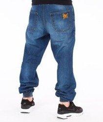 SmokeStory-SSG Tag Jogger Regular Spodnie Wycierane Niebieskie