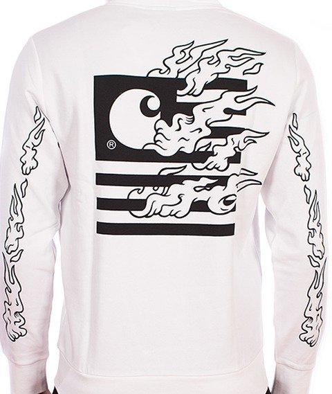 Carhartt-State Flames Bluza Z Kapturem White