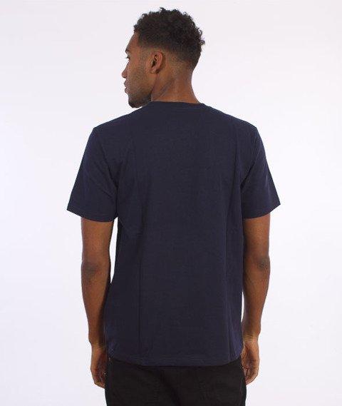 Carhartt WIP-College Script LT  T-Shirt Navy/White
