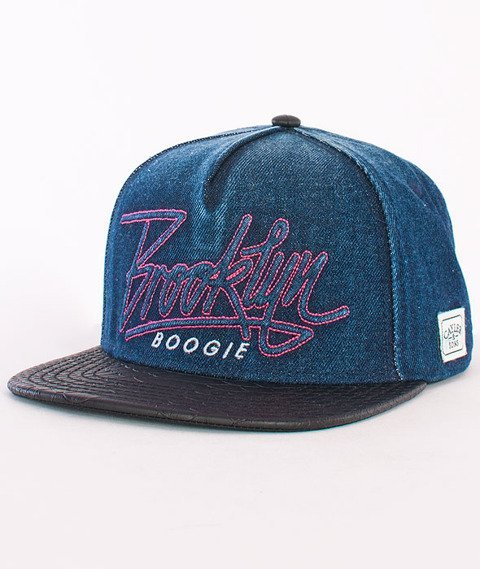 Cayler & Sons-BK Boogie Cap Denim/Black/Purple