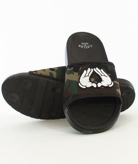 Cayler & Sons-BK Sandals Black/Woodland/White