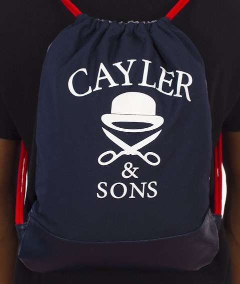 Cayler & Sons-Crooklyn Skyline Gym Bag Navy/Red/Multicolor