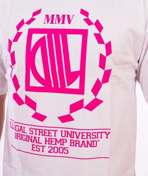 DIIL-Laur T-Shirt Biały/Magenta