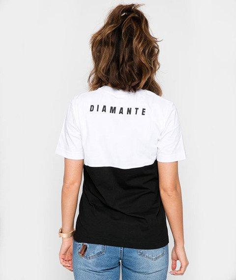 Diamante-Double Shark T-shirt Damski Biały/Czarny