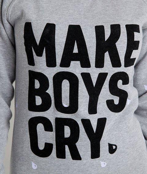 Diamante-Make Boys Cry Bluza Damska Szara