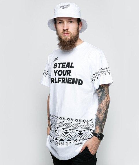 Diamante-Mr. Steal Your Girlfriend T-Shirt Biały
