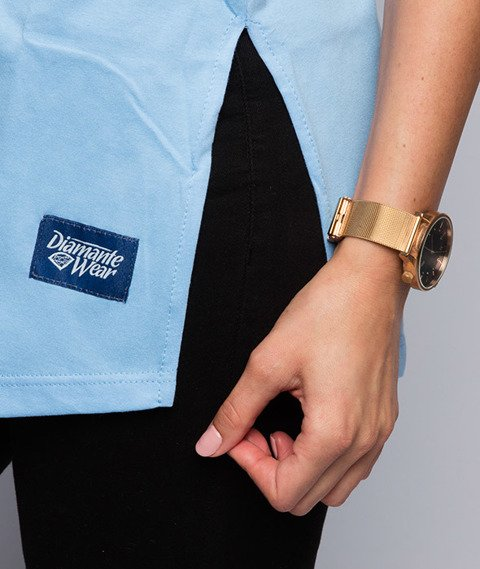 Diamante-Nigdy Się Nie Poddam T-shirt Damski Niebieski