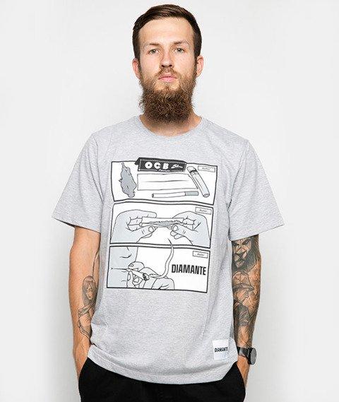 Diamante-Rollin' T-Shirt Szary