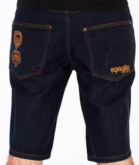 El Polako-Expedition Spodnie Krótkie Jeans Ciemne Spranie