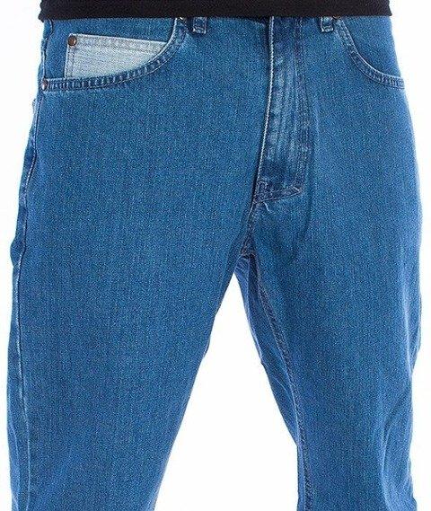 El Polako-Half Pocket Slim Spodnie Jeans Jasne Spranie
