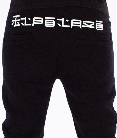El Polako-Japan Fit Spodnie Dresowe Czarne