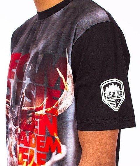 El Polako-Jeleń T-Shirt Czarny/Multikolor