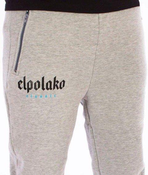 El Polako-Old Classic Fit Spodnie Dresowe Szare