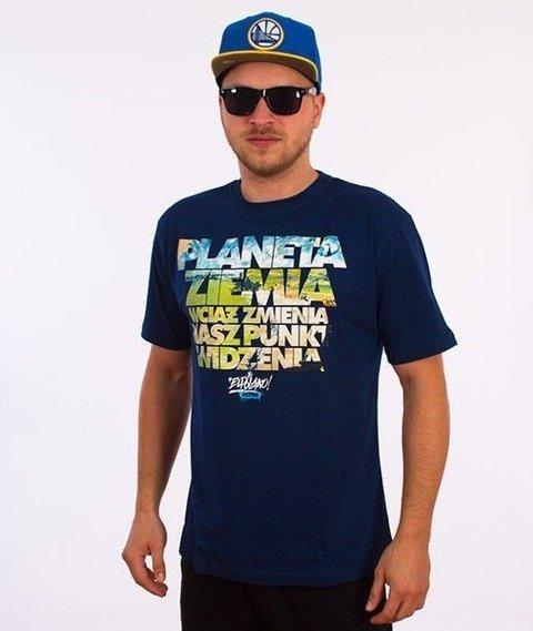 El Polako-Planeta Ziemia T-Shirt Granatowy