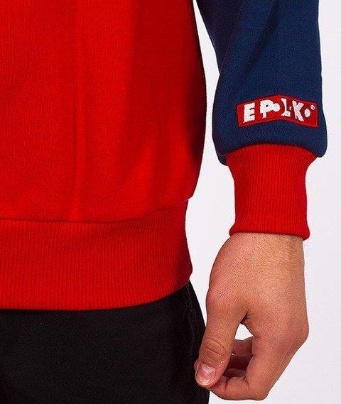 El Polako-Stripes Bluza Granatowa/Czerwona