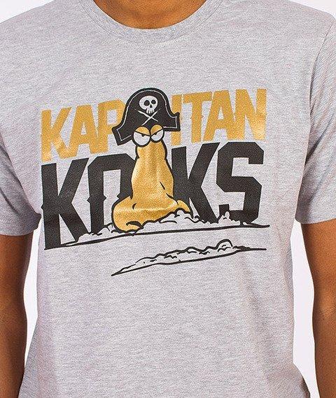 Gang Albanii-Kapitan Koks T-Shirt Szary