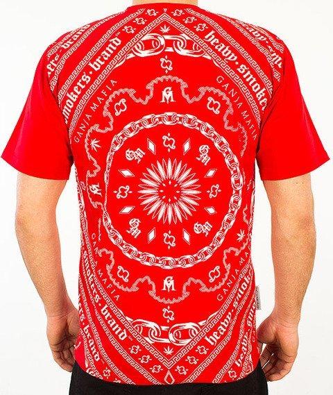 Ganja Mafia-Bandana Multi T-shirt Czerwony