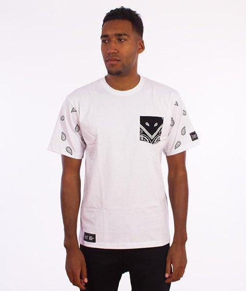 Ganja Mafia-OGM Pocked T-Shirt Biały