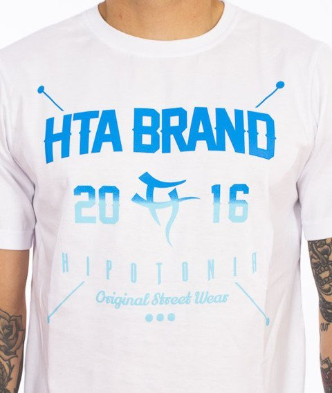 Hipotonia-HTA Brand T-shirt Biały