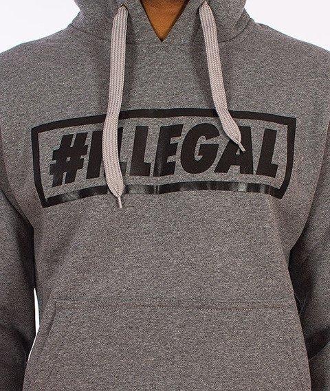 Illegal-#Illegal Bluza Z Kapturem Grafitowa