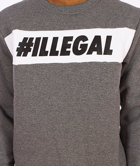 Illegal-#Illegal Line Bluza Grafitowa