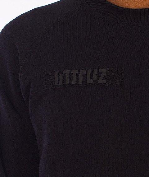 Intruz-Patched Bluza Crewneck Czarna