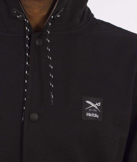 Iriedaily-Daily College Hooded Bluza Kaptur Rozpinana Black