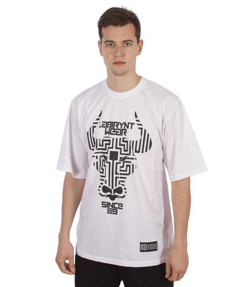 Labirynt-Minotaur T-shirt Biały