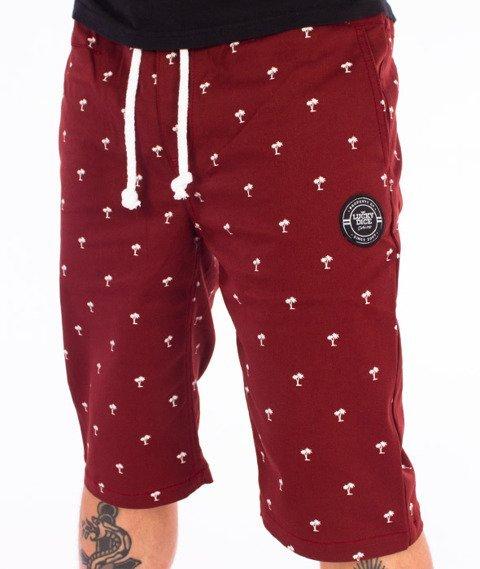 Lucky Dice-Chino Krótkie Spodnie Bordowe