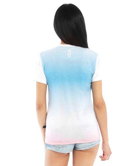 Lucky Dice-Gradient T-Shirt Damski Multikolor