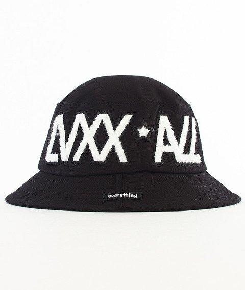 LuxxAll-Word Bucket Hat Czarny/Biały
