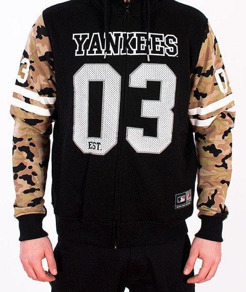 Majestic-New York Yankees Zip Hoodie Black/Camo