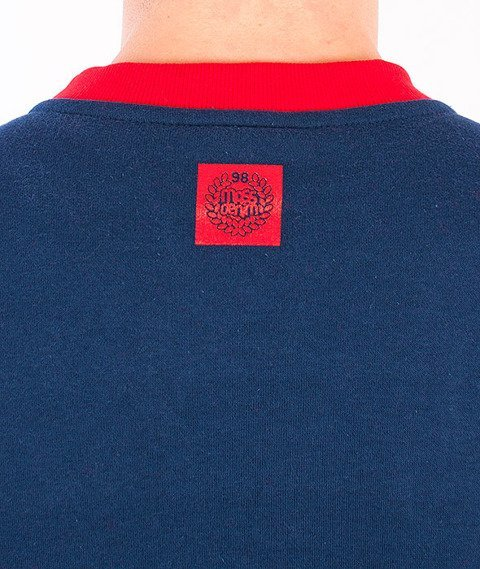 Mass-Base Bluza Granatowa/Czerwona