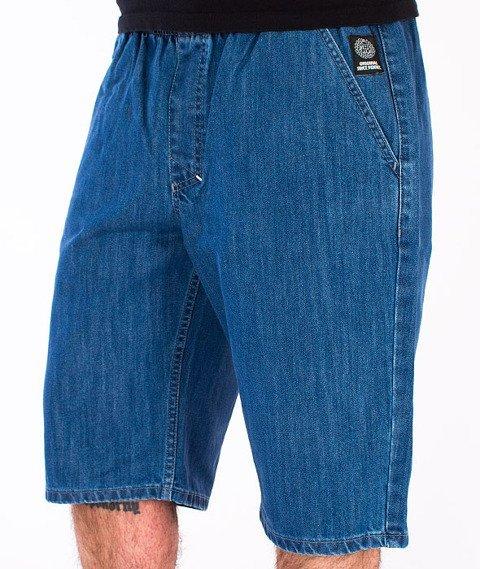 Mass-Base Chino Spodnie Krótkie Jeans Blue