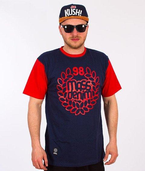 Mass-Base T-Shirt Granat/Czerwony