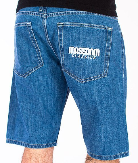 Mass-Classics Spodnie Krótkie Jeans Blue