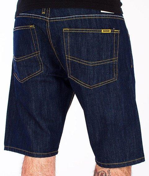 Mass-Dope Spodnie Krótkie Jeans Rinse Blue