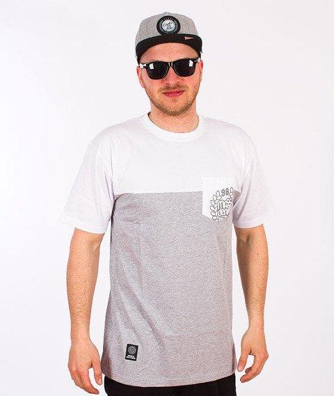 Mass-Pocket Base T-Shirt Biały/Szary