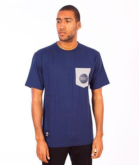 Mass-Pocket Signature T-shirt Granatowy