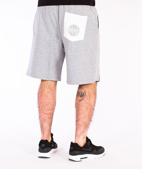 Mass-Signature Spodnie Dresowe Krótkie Szare