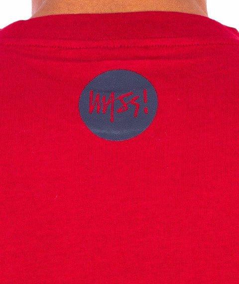 Mass-Signature T-shirt Bordowy