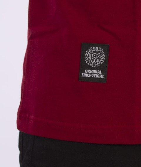Mass-Stamp T-Shirt Bordowy