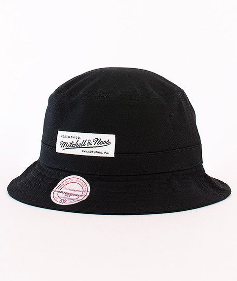 Mitchell & Ness-Label Logo Bucket Hat Black EU488