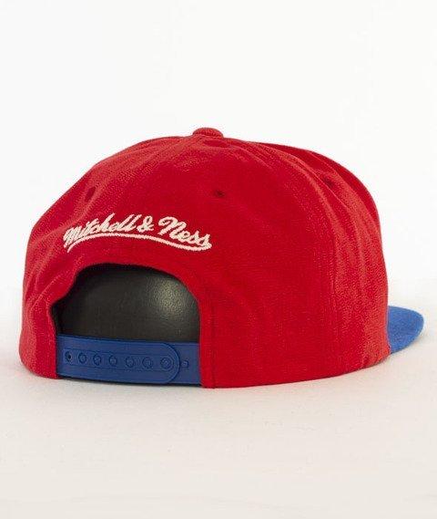 Mitchell & Ness-Sadny Off White Los Angeles Clippers Snapback VV16Z Czerwony/Niebieski