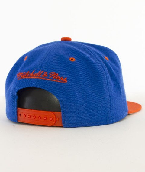 Mitchell & Ness-Team Arch New York Knicks Snapback NA80Z Niebieski/Pomarańczowy