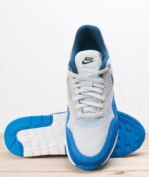 Nike-Air Max 1 Breathe Pure Platinum Medium Navy [644140-004]