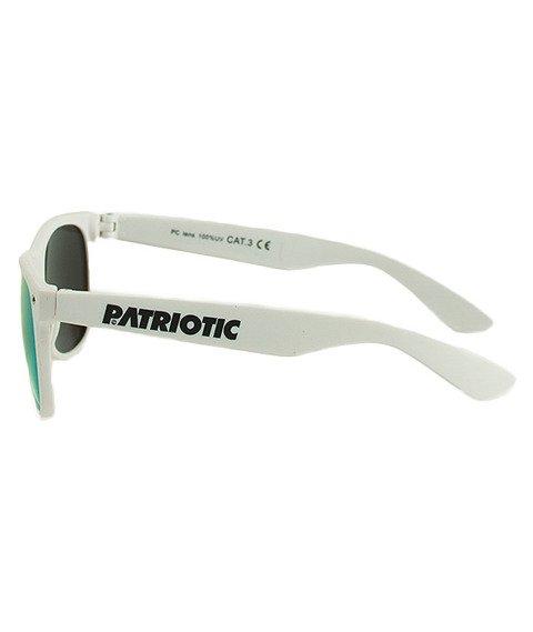 Patriotic-Futura Classic Okulary Białe/Turkusowe
