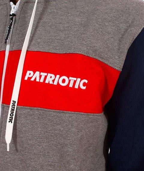 Patriotic-Futura K ZIP Bluza Kaptur Rozpinana Grafit/Granatowy/Czerwony